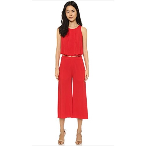 871ed47acfe Black Halo Pants - Black Halo Claudia Two Piece Jumpsuit Red 0